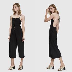 Farrow - Black Cotton / Linen Jumpsuit